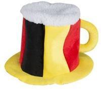 nederland Bierhoed 20 x 30 x 30 cm geel/rood/zwart/wit