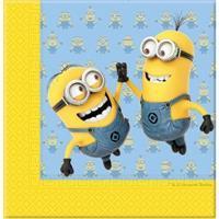 Servetten Minions geel blauw