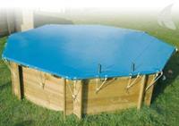 Afdekzeil voor zwembad achthoekig - Afdekzeil 400 x 610