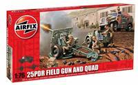 Airfix 1/76 25PDR Field Gun And Quad