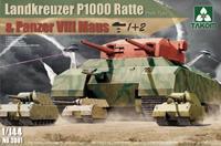 Takom 1/144 Landkreuzer P1000 Ratte & Panzer VIII Maus