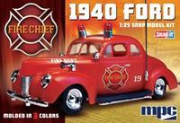 MPC 1940 Ford Fire Chief Super Snap 1/25