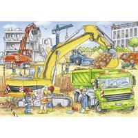 Ravensburger Viel zu tun auf der Baustelle Puzzle 2x24 teilig 07800