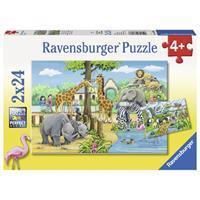 Ravensburger Puzzle Willkommen im Zoo 2x24