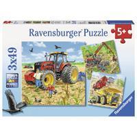Ravensburger Große Maschinen Puzzle 3x49 teilig 08012
