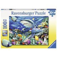 Ravensburger puzzel 100 stukjes haaienrif