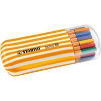 Stabilo Fineliner  point 88 Zebrui etui à 20 kleuren