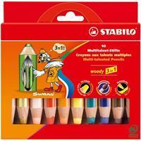 Stabilo Woody 3in1 Etui - 10 kleuren