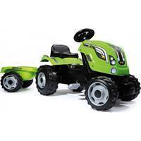smoby Tractor Farmer XL groen met aanhanger - Groen