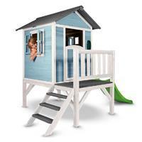 Lodge XL Speelhuisje Blauw-Wit