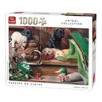 legpuzzel Puppies On Stairs 1000 stukjes