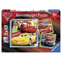 puzzle 3x49 stukjes Legendes van de baan