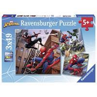 Ravensburger puzzelset Spider-Man in actie - 3 x 49 stukjes