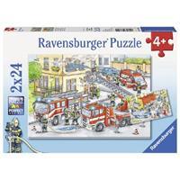 Ravensburger puzzle 2x24 Helder aan het werk