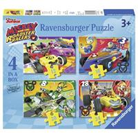 Ravensburger Disney puzzelbox Mickey and the Roadster racers 4-in-1