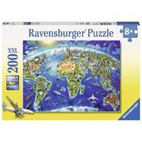 Ravensburger puzzle 200 stukjes de wereld in symbolen