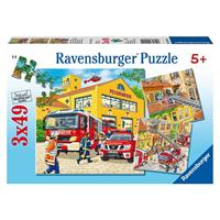 Bbm Ravensburger Feuerwehreinsatz Puzzle 3x49 teilig 09401