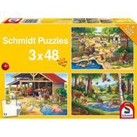 Schmidt Al mijn lievelingsdieren 3 x 48 stukjes - Puzzel
