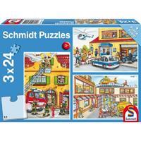 Schmidt Feuerwehr und Polizei (Kinderpuzzle)