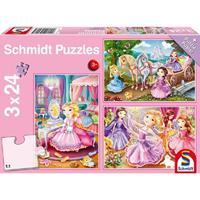 Schmidt Sprookjesachtige prinses 3 x 24 stukjes - Puzzel