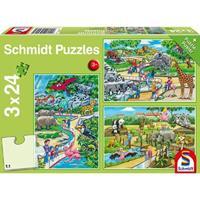 Schmidt Een dagje dierentuin 3 x 24 stukjes - Puzzel