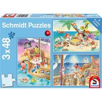 Schmidt Piraten! 3 x 48 stukjes - Puzzel