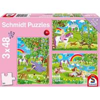 Schmidt Prinses in de Slottuin 3 x 48 stukjes - Puzzel