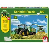 Schmidt Tractor 7310R met 8600i hakselaar 100 stukjes - Puzzel