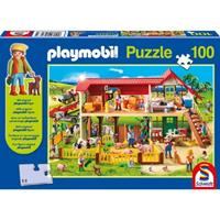 Schmidt Playmobil Boerderij 100 stukjes - Puzzel