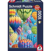 Schmidt Bonte Ballonen in de lucht 1000 stukjes - Puzzel
