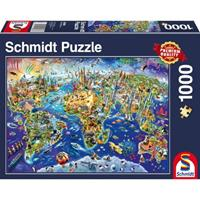Schmidt Ontdek onze wereld 1000 stukjes - Puzzel