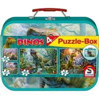 Schmidt Dinos Puzzle-Box 2x60 2x100 stukjes - Puzzel