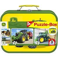 Schmidt John Deere Puzzle-Box 2x60 2x100 stukjes - Puzzel