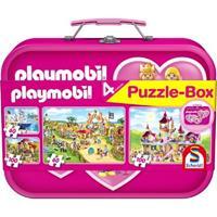 Schmidt Playmobil Puzzle-Box rose 2x60 2x100 stukjes - Puzzel