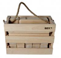 BEX Kubb Viking Original Rubberhout in Houten Kist