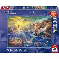 Schmidt Disney Kleine Zeemeermin Ariël 1000 stukjes - Puzzel