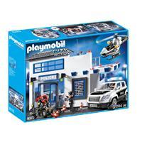 PLAYMOBIL City Action politiepost met voertuigen 9372