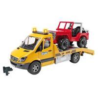 Bruder MB Sprinter Autotransporter met Jeep