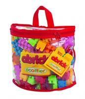 Ecoiffier Abrick Doorzichtige tas met 100 bouwstenen - Kleurrijk