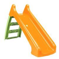 Praxis Paradiso Toys kleine glijbaan groen/oranje 1,24m