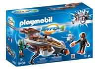 Playmobil Super 4 9408 Gene and Sykroniano with Ship
