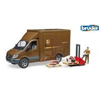 Bruder UPS MB Sprinter met bestuurder en accessoires