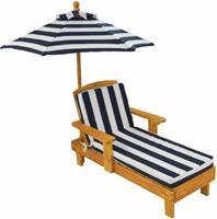 kidkraft Houten kinder ligstoel -Chaise Longue- met kussen en parasol -  (00105)