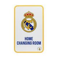 "Merchandise Real Madrid ""Home Changing Room"" Metalen Bord"