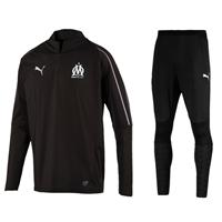 Olympique Marseille Zip Training Top 2018-2019 - Zwart - XS