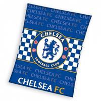 Chelsea fleece deken 110 x 140 cm blauw