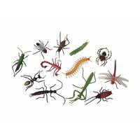 Halloween - Plastic enge halloween beestjes insecten 12 stuks Multi
