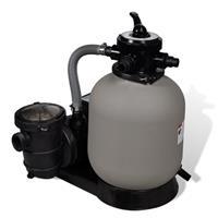 vidaXL Sandfilterpumpe 600 W 17.000 L/h Grau