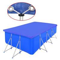 vidaXL Zwembadhoes rechthoek 400x207 cm PE blauw