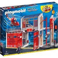 Playmobil City Action - Grote brandweerkazerne met helicopte